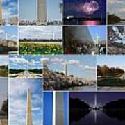 Washington Monument Collage 2 Art Print