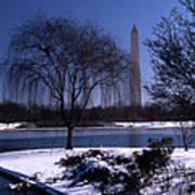 Washington Monument Winter  Art Print