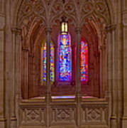 Washington National Cathedral Colors Art Print