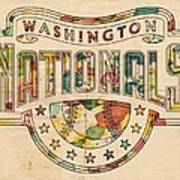 Washington Nationals Poster Art Art Print