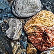 Washington River Rock Art Print
