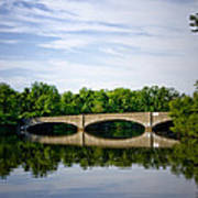 Washington Road Bridge Over Lake Carnegie Princeton Art Print