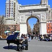 Washington Square Pianist Art Print