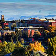 Washington State University In Autumn Art Print by David Patterson