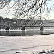 Washingtons Crossing Winter Art Print