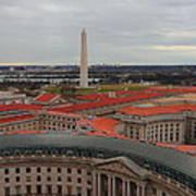 Washintgon Monument From The Tower Of The Old Post Office Tower Art Print