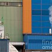 Waste-to-energy Plant Detail Oberhausen Germany Art Print