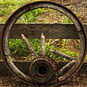 Www. Wasted Wagon Wheel Art Print