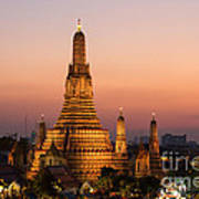 Wat Arun At Sunset - Bangkok Art Print