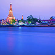 Wat Arun Temple Bangkok Thailand Art Print