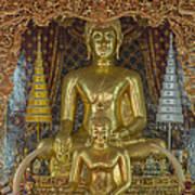 Wat Chai Monkol Phra Ubosot Buddha Images Dthcm0849 Art Print