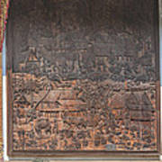 Wat Chai Monkol Phra Ubosot Diorama Of Village Life Dthcm0856 Art Print