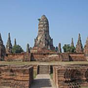 Wat Chaiwatthanaram From The East Dtha0187 Art Print