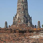 Wat Chaiwatthanaram Ubosot Platform And Buddha Images Dtha0189 Art Print