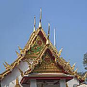 Wat Chumphon Nikayaram Phra Ubosot Gables Dtha0125 Art Print
