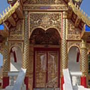 Wat Dok Eung Phra Ubosot Entrance Dthcm0353 Art Print