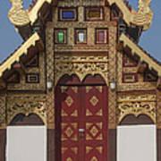 Wat Duang Dee Phra Ubosot Door  Dthcm0297 Art Print