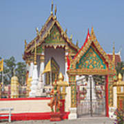Wat Kampaeng Phra Ubosot And Gate Dtha0142 Art Print