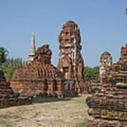Wat Mahathat Prangs And Chedi Dtha0231 Art Print