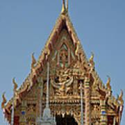Wat Na Kwai Ubosot Front Gable Dthu161 Art Print