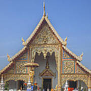 Wat Phra Singh Phra Wihan Luang Gable Dthcm0238 Art Print