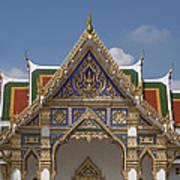 Wat Phrasri Mahathat Ubosot Gable Dthb1465 Art Print