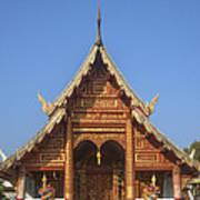 Wat Phuak Hong Phra Wihan Gable Dthcm0575 Art Print