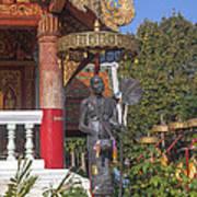 Wat Phuak Hong Phra Wihan Monk Figure Dthcm0579 Art Print