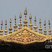 Wat Roof Detail Art Print