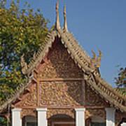 Wat Sri Don Chai Phra Ubosot Gable Dthcm0095 Art Print