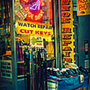 Watch Repair Shop - Keys Made Here Art Print