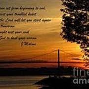 Watch The Sun Set Print by John Malone