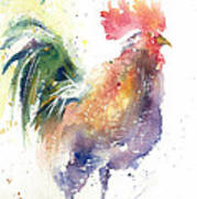 Watchful Rooster Art Print