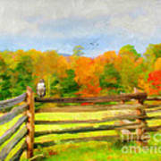 Watching Autumn Art Print