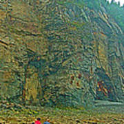 Watching Climbers From Ocean Floor At Cape Enrage-nb Art Print