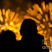 Watching Fireworks Art Print
