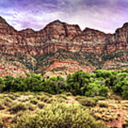 Watchman Trail - Zion Art Print