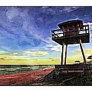 Watchtower On The Beach Art Print