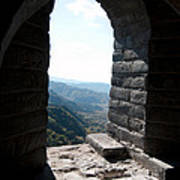 Watchtower Window View From The Great Wall 637 Art Print