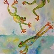 Water Aerobics Art Print