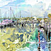 Water Boarding Art Print
