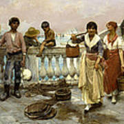 Water Carriers. Venice Art Print