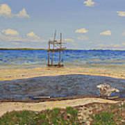Water Cay Beach Grand Cayman Art Print