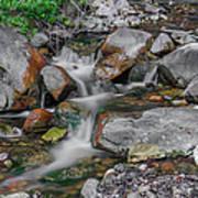 Water Coloured Rocks Art Print