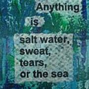 Water Cure - 1 Art Print