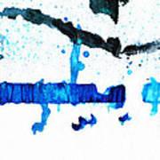 Water Dance - Blue And White Art By Sharon Cummings Art Print