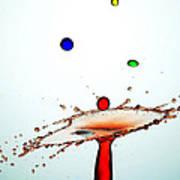 Water Droplets Collision Liquid Art 13 Art Print