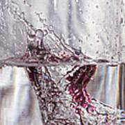 Water Drops Abstract  Art Print