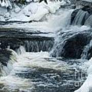 Water Fall On The River Art Print