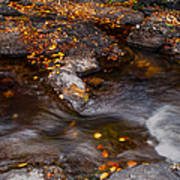Water Flow Through The Boulders. Eureka. Mauritius Art Print